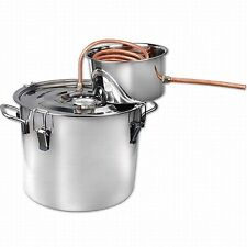 NEW 2 Gal Stainless Alcohol Moonshine Copper Still Spirits Boiler Distiller Kit