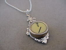 TYPEWRITER KEY PENDANT NECKLACE ? QUESTION MARK ? cream typewriter key jewelry