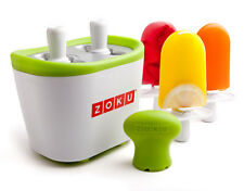 ZOKU Duo Quick Pop Ice Cream Lolly Maker DIY Popsicle w/Drip Guards & Sticks