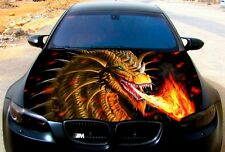Vinyl Car Hood Full Color Graphics Decal Dragon Burning Flame Sticker