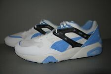 PUMA TRINOMIC - MEN'S Size 8 White Baby Blue Black Running Shoe Casual