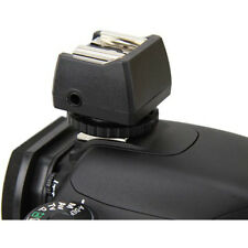 JJC Hot Shoe Flash Adapter with PC Sync and 3.5mm Mini Jack Port Outlet Socket