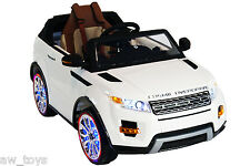 2017 Range Rover 12v Battery Powered Electric Ride On Kids Toy Car Remote White