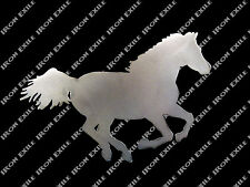 Horse Running Stallion Equine Farm Ranch Barn Western Metal Wall Art Gift Idea