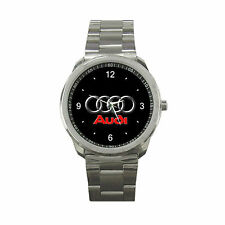 Audi Car Logo Nascar Rally Metal Sport Watch