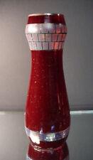 Loetz Art Glass Wiener Werkstatte Mosaic Design w/ Silver Deposit Vase Czech
