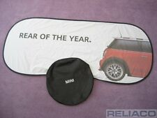 "BMW Mini Mk1 R50 R52 R53 Windscreen Sun Shade Blind ""Rear Of The Year"" Genuine"