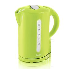 SWAN 1.7L ELECTRIC CORDLESS JUG KETTLE LIME GREEN WITH REMOVABLE FILTER NEW