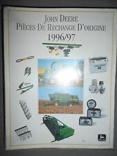 John Deere : catalogue moissonneuse batteuse / récolteuse hacheuse 1996/97