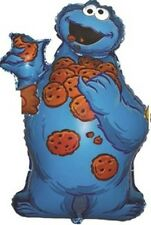 "SESAME STREET COOKIE MONSTER SUPERSHAPE 33"" FOIL BALLOON!"