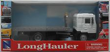 NewRay - MAN F2000 LKW Plateau-Abschleppwagen weiß/grau 1:43 Neu/OVP