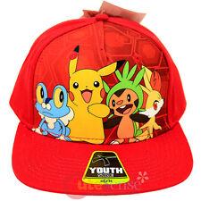 Pokemon SnapBack Kids Hat Trucker Cap Pikachu Chespin Froakie Fennekin