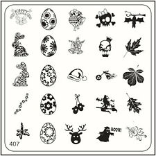 MoYou Nail Fashion Square Image Plate 407 Easter Style Stamping Template
