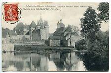 CARTE POSTALE CHATEAU DE LA CLAYETTE 1912 CACHET CONVOYEUR MOULINS A MACON