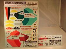 """DECALS 1/24 PORSCHE GT2 #71 """"ESTORIL RACING"""" LM 1998 - COLORADO  2448"""