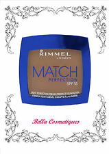 RIMMEL LONDON MATCH PERFECTION CREAM COMPACT FOUNDATION 100 IVORY