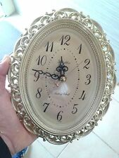 Vintage Antigue Gold Tone Retro Look Ryhthm Wall Clock Made in Japan