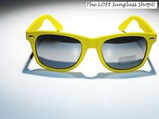 Cool Mens Womens Summer Wayfare Style Sunglasses 13rb-Yellow
