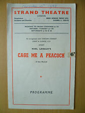1948 STRAND Theatre Programme: CAGE ME A PEACOCK BY CHARLES HICKMAN
