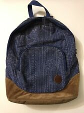 roxy everyday backpack leather base bottom Blue Brown