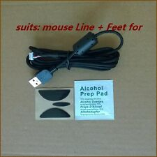New Repair kits fits Logitech G500/S Mice:USB mouse cable/Line&Mouse Feet/Skate