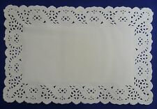 "250 WHITE 8½ x 5½"" LACE PAPER DOYLEYS/DOILIES (SANDWICH/CAKE/TRAY/FOOD LINERS)"