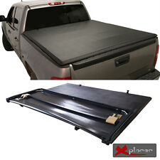 Fit 04-14 F150 06-08 Mark LT 6.5ft Styleside Bed Soft Tri-Fold Blk Tonneau Cover