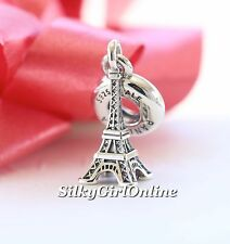 NEW! AUTHENTIC PANDORA CHARM EIFFEL TOWER  TRAVEL DANGLE #791082 *SPECIAL*