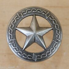 TEXAS STAR/BARB WIRE TACK ~ SILVER Decorative Upholstery Nail { Set of 6} by PLD