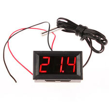 Red DC 12V Digital Thermometer Temp 1m Meter Probe -50~110C Temperature Detector