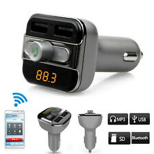 Wireless Bluetooth BT Car FM Transmitter MP3 Player To Transmit Phone Call