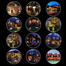 12 Patterns Outdoor Christmas Landscape Moving Laser Projector LED Light Lamp