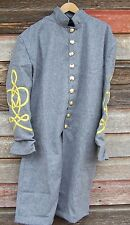 civil war confederate frock coat with 3 row braids  44