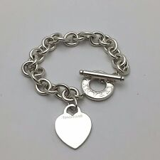 Tiffany & Co New York Heart Toggle Bracelet  8 Inches