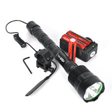 Outdoor 6000Lm T6 LED Tactical Hunting Flashlight Torch Mount Light Rifle18650