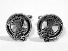 Scottish Clan Cameron Crest Cufflinks, English Pewter, Handmade, Gift Boxed (H)