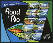 NEW ZEALAND ROAD TO RIO OLYMPIC GAMES SHEET  MINT NH