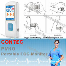 CE CONTEC Handheld ECG EKG machine,Color LCD,Electrocardiogram,Heart Monitor,NEW