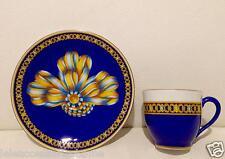 Tazza Caffè con Piattino Hermes Cocarde De Soie - Cup Hermes Cocarde De Soie