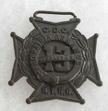 """1913 NYNG 13TH RGT PLANCHET MARKED """"CDC"""" AT TOP NO HM PLANCHET ONLY BRONZE"""