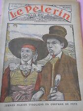 Jeunes Mariés tyroliens en costume de fête dessin Print 1935