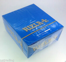 Rizla Tobacco King Size Slim Rolling Papers Blue - FULL BOX of 50 BOOKLETS
