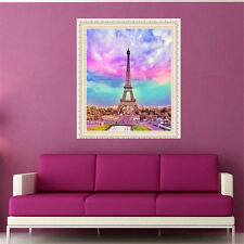 YGS-106 Full Diamond Painting Cross Stitch Embroidery The Eiffel Tower Square