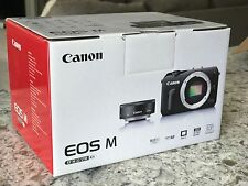 Canon EOS M 18.0 MP Digital Camera White + EF-M 22mm STM Kit - CIB - Excellent