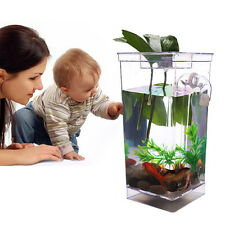 My Fun Fish Tank Bowls Aquariums Small Pet Self Cleaning Desktop Decor