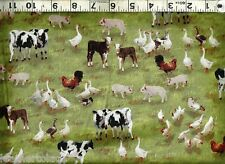 Quilting Treasures ~ Farmall IH Farm Animals ~ 100% Cotton Quilt Fabric BTY