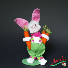 "Annalee 8"" GARDEN BUNNY BOY 2012 Decoration FIGURE doll EASTER rabbit holiday NW"
