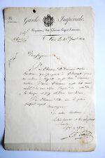 Document Général COLBERT 2e Rgt Chevau-Legers Lanciers Waterloo 19e Imperial