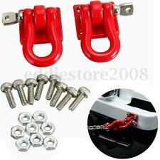 1 Pair 1:10 Scale Hook Shackles Red 2pcs for RC SCX-10 Crawler Truck Accessories