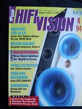 HIFI VISION 4/94.KRELL KRC 2KSA 100S,LEVINSON 38,27.5,SONY DTC 2000ES,ROTEL RA B